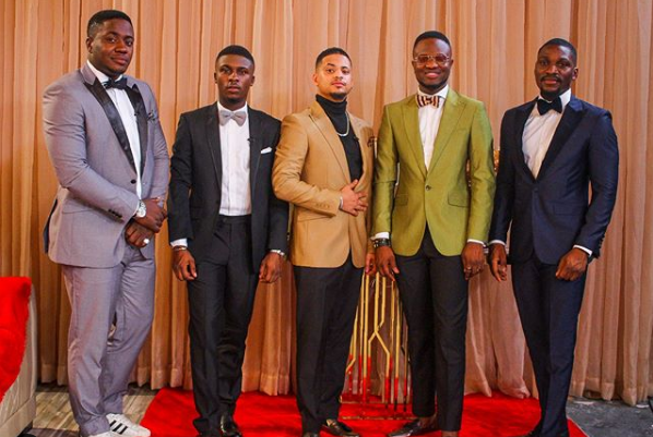 BBNaija 2019 Reunion: Best BBNaija 2018 Male Housemates Reunion Photo with Ebuka