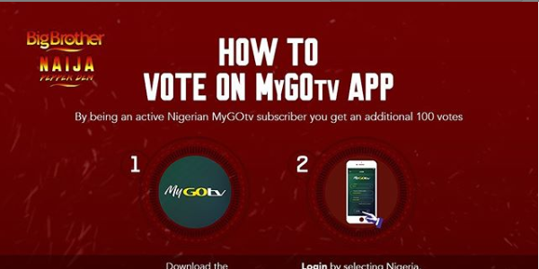 Big Brother Naija (BBNaija) Vote on MyDSTV & GOTV App Season 5 2020