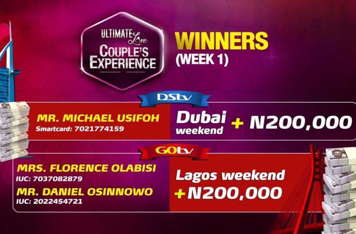 Winners of UWinners of Ultimate Love Couple's Experience Week 1ltimate Love Couple's Experience Week 2!