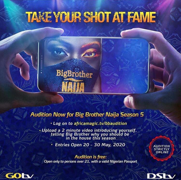 AfricaMagic.tv/Audition - BBNaija 2020 (Season 5) Online Audition for Housemate