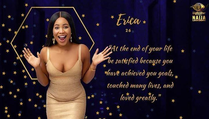 How to Vote for Erica BBNaija 2020 Housemate.