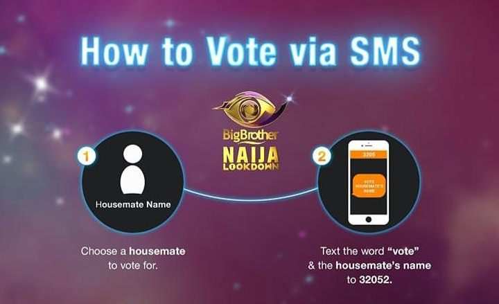 How to Vote BBNaija Housemate with SMS Code