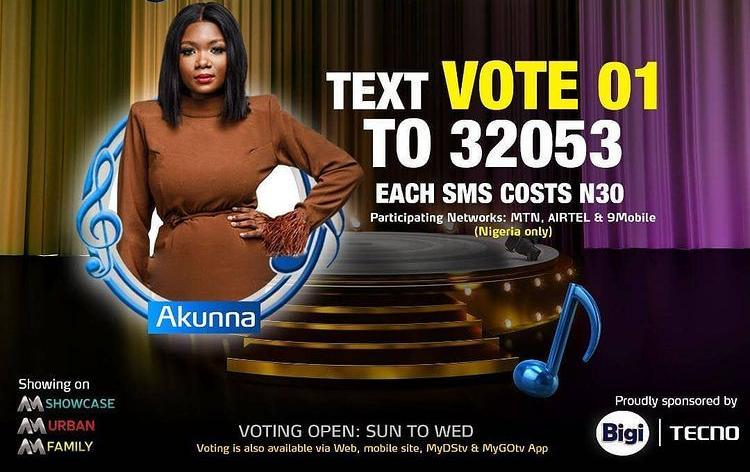 How to Vote Akunna on Nigerian Idol 2021 on Mobile, Website, SMS, GOtv App. DStv App.