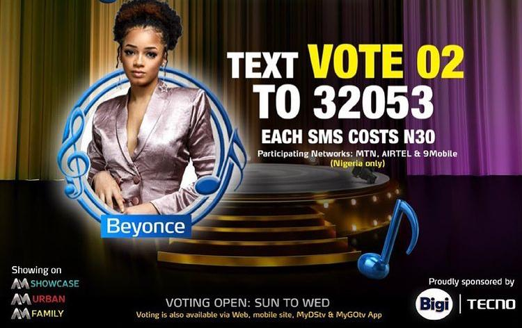 How to Vote Beyonce on Nigerian Idol 2021 on Mobile, Website, SMS, GOtv App. DStv App