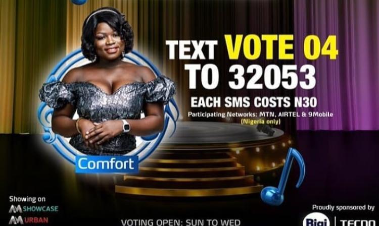 How to Vote Comfort on Nigerian Idol 2021 on Mobile, Website, SMS, GOtv App. DStv App