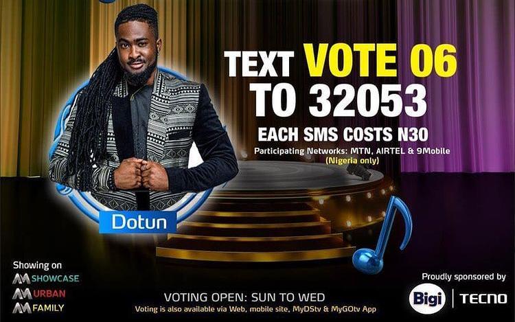 How to Vote Dotun on Nigerian Idol 2021 on Mobile, Website, SMS, GOtv App. DStv App.