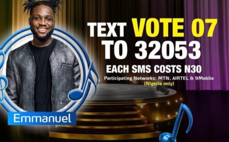 How to Vote Emmanuel on Nigerian Idol 2021 on Mobile, Website, SMS, GOtv App. DStv App
