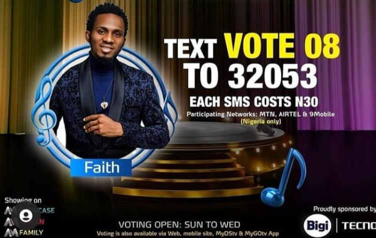 How to Vote Faith on Nigerian Idol 2021 on Mobile, Website, SMS, GOtv App. DStv App