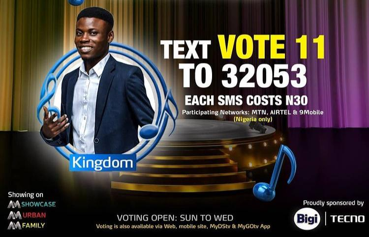How to Vote Kingdom on Nigerian Idol 2021 on Mobile, Website, SMS, GOtv App. DStv App